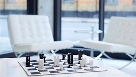 contemporary chess set