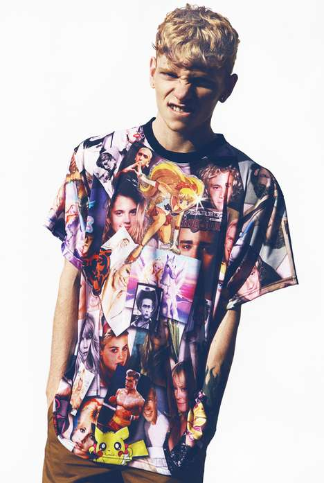 Beautiful Collaged Shirts - The Roberto Piqueras Blondes Tee is Unisize and Unisex