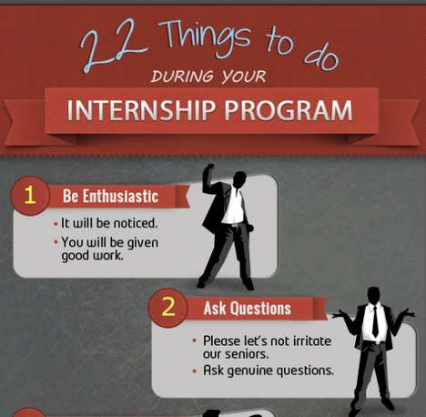 Job Impression Infographics - Things to Do During Your Design Placement or Editorial Internship