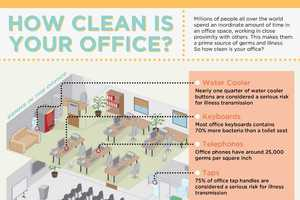 The Office Cleanliness Infographic Shares Germ-Infested Items