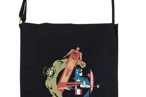 The Assemble Messenger Bag Uses the Avengers to Form the Logo