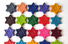 Religious Rainbow Crayons - These Star of David Crayons are a Cute Feature for Jewish Youngsters