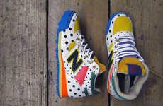 Childlike Polka Dot Sneakers - The Frapbois x New Balance Shoes are Funky Fun Kicks