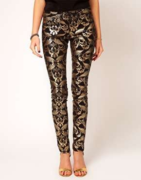 ASOS Metallic Baroque Jeans