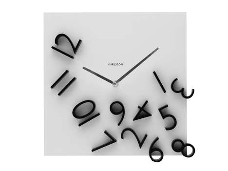 Wall Clock Falling Numbers