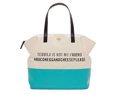 Hashtag Hangover Purses - These Kate Spade Totes Offer Playful Sayings