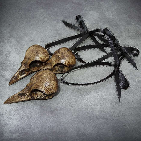 Crow Skull Tree Ornaments