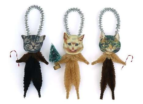 Cat Christmas Tree Ornaments