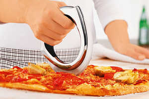 The Pitzo Pizza Cutter is Glides Through Foods Like Butter