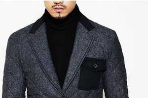 Guylook's Diamond Quilting Blazer Coat Makes Winter Suiting Luxe