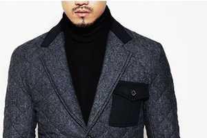 Guylook's Diamond Quilting Blazer Coat Makes Winter Suiting Luxe
