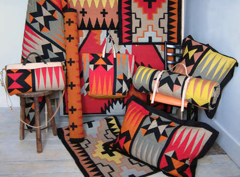 Bold Tribal-Print Mats - Knight Mills Rugs are Created By Illustrator/Designer Sacha Knight