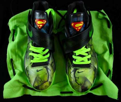 Anti-Superhero Footwear - The District Customs Nike KD4 Kryptoman Will Destroy the Powerful Superman
