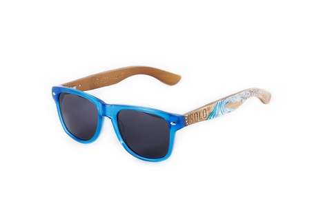 Custom Charity Bamboo Sunglasses - SOLO Eyewear x Raw Artists Shades are Philanthropically Stylish