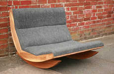 Rocking Love Seats - The SB03-1 Rocker by Baines&Fricker is Simple, Homey and Modern