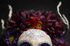 Sugar Skull Sculptures - The Krisztianna Muertita Wall Mounts Contemplate Mortality