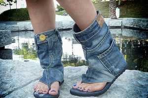 The Jeans Sandal Boots by DaniKshoes are Pants for the Feet