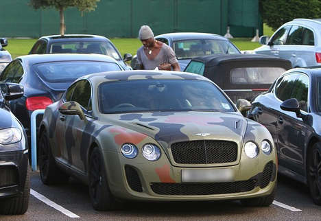 Ultimate Undercover Rides - Custom Bentley Gets Undercover Treatement in Camouflage Vinyl Wrap