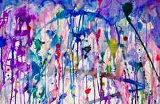 Rainbow Raindrop Prints