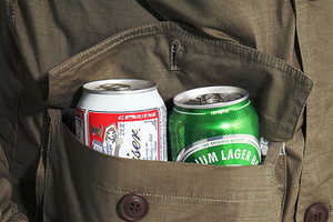 The Enjoi Beer Hunter Jacket Keeps You Warm and Your Liquor Cool