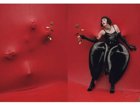 Surreal Holiday-Inspired Photoshoots - The W Magazine 'Red Hot' Editorial Stars Marion Cotillard