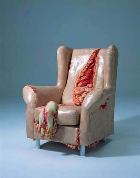 Gruesomely Slashed Furniture - Cao Hui