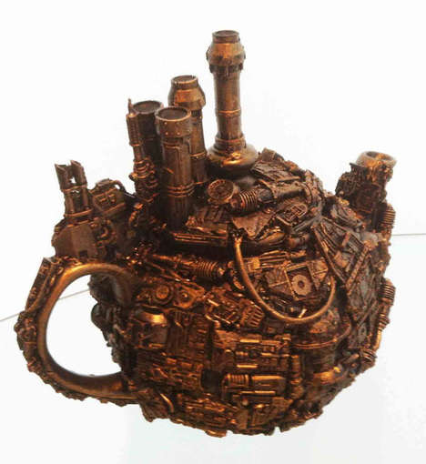 Techno Steampunk Teapot