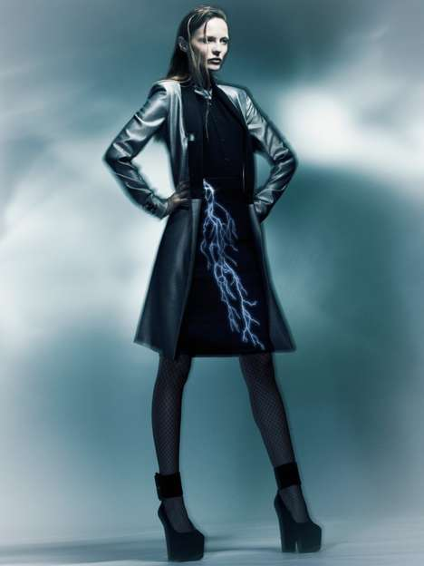 Stormy Fashion Ads - The Verlaine Spring 2013 Campaign is Dramatically Dark