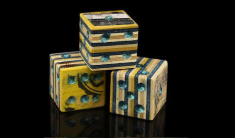 Upcycled Wooden Dice - The Premier Store Turns Recycled Skateboards Into Dice