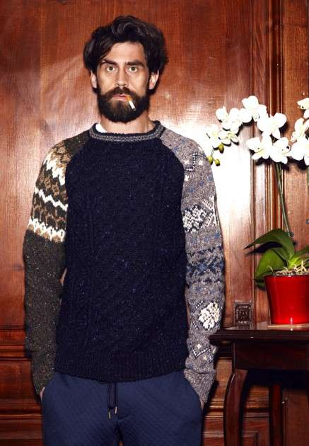 Patterned Patchwork Knitwear - The Casely-Hayford Fall/Winter Knitwear is Made in Ireland