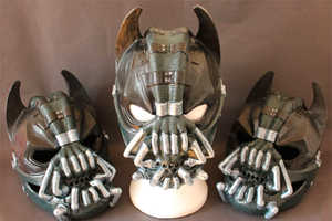 Artist Pays Homage to The Dark Knight in a Batman Bane Crossover Mask