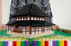 Folding Building Block Novels - The LEGO Pop-Up Book Forms the Japanese Todai-ji Temple