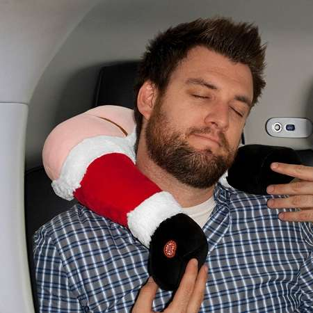 farting santa travel pillow