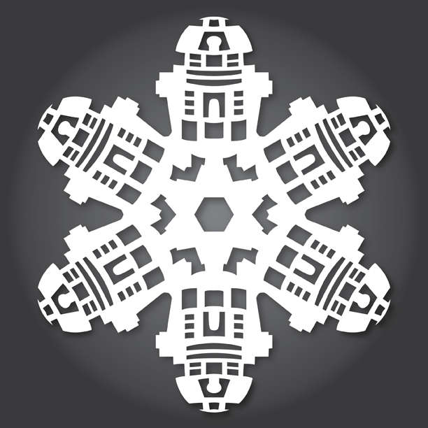 DIY Sci-Fi Snowflakes