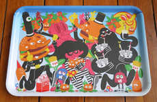 Illustrated Burger Trays - Burgerac x Rob Flowers Burgermat Tray is Colorful