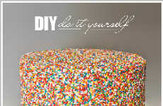 Rainbow Sprinkle Cakes - Steer Clear of Traditional Tortes and Indulge in the Cake Blog DIY Dessert