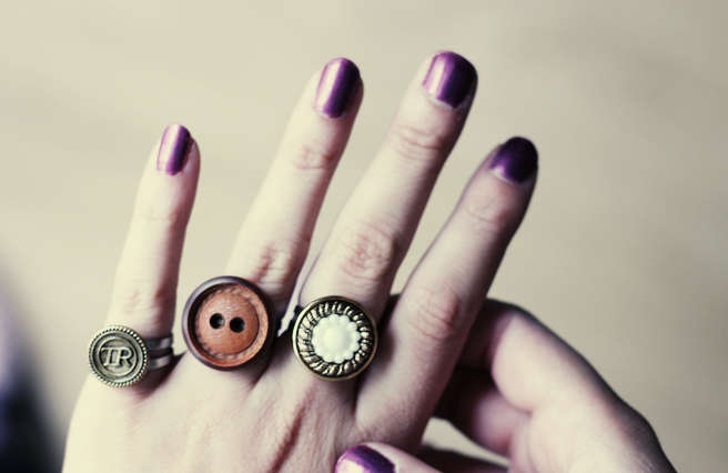 Darling DIY Button Rings
