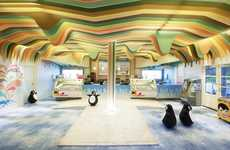 Cave-Like Treat Shops - The Ice Cream Castle by Scenario Interior Architects is Made for Children