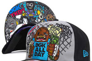The DGK x Tokidoki Collaboration Uses New Era Snapbacks for Its Canvas