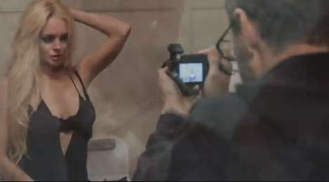 Seductive Starlet Music Videos - James Franco Directs Lindsay Lohan in New R.E.M. Music Video