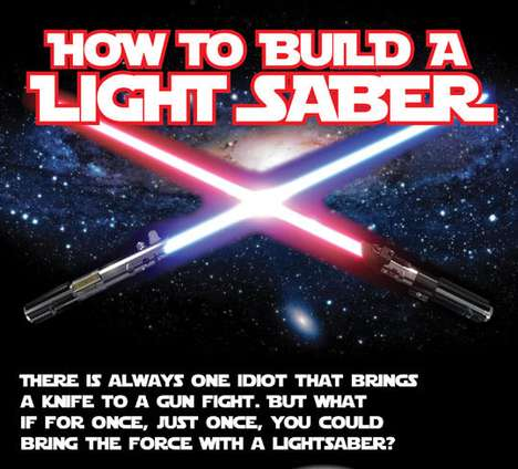 Galactic Weapon Infographics - Unleash Your Jedi with This DIY Star Wars Lightsaber Chart Tutorial
