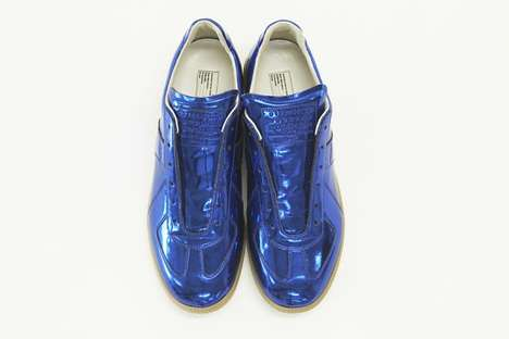 Blue Metallic Replica Low Top