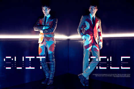 Wickedly Retro Menswear Editorials - The Mad Men Lush Magazine Editorial Reveals a Darker Side