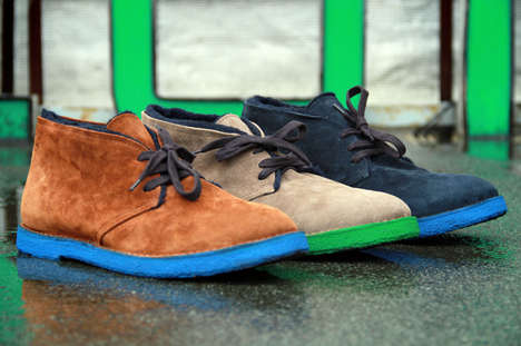 colored sole desert boots