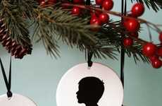 Personalized Portrait Ornaments - These Custom Silhouette Christmas Ornaments are Simplistic