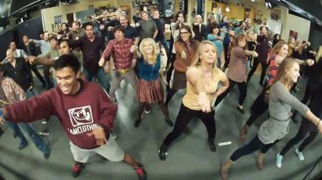 TV flash mob