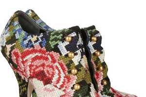 The Dolce & Gabbana Tapestry Boot is One Crafty Designer Shoe