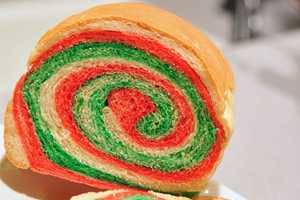 Celebrate Christmas with Delicious Color Swirl Sandwich Bread