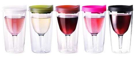 Spill-Proof Drinking Glasses - The VINO2GO Wine Sippy Cup Prevents Dripping and Stains