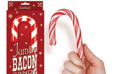 Meaty Christmas Confections (UPDATE) - The Jumbo Bacon Candy Cane Will Make Your Mouth Water